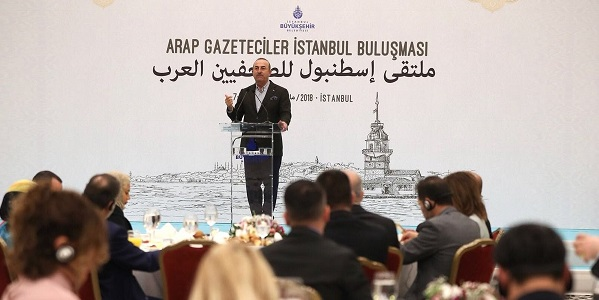 Foreign Minister Çavuşoğlu attended the Istanbul Forum for Arab Journalists, 12 May 2018