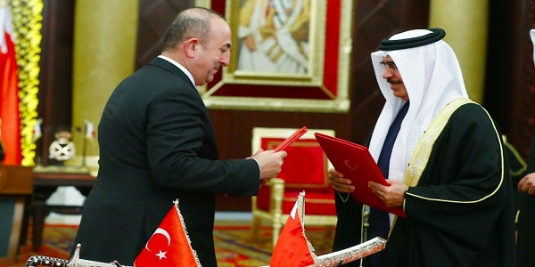 Foreign Minister Çavuşoğlu accompanies President Recep Tayyip Erdoğan during the visits to Gulf countries - Bahrain