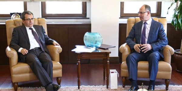 Deputy Foreign Minister Ambassador Yıldız received Ambassador of Palestine