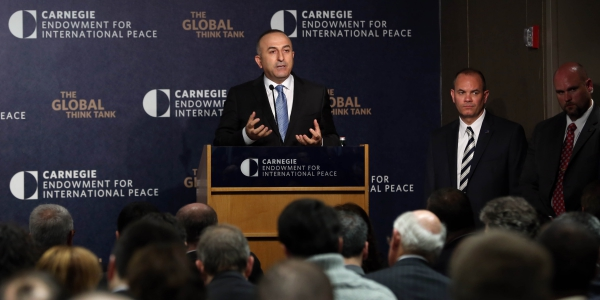Foreign Minister Cavusoglu Delivered A Speech At The Carnegie