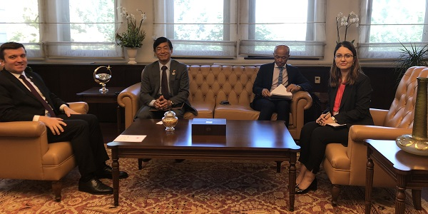 Deputy Minister of Foreign Affairs Yavuz Selim Kıran met with Ambassador of Japan 7 September 2018