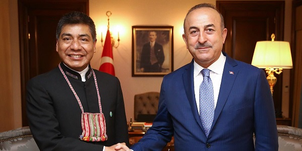 Foreign Minister Mevlüt Çavuşoğlu met with Foreign Minister Fernando Huanacuni Mamani of Bolivia, 9 July 2018