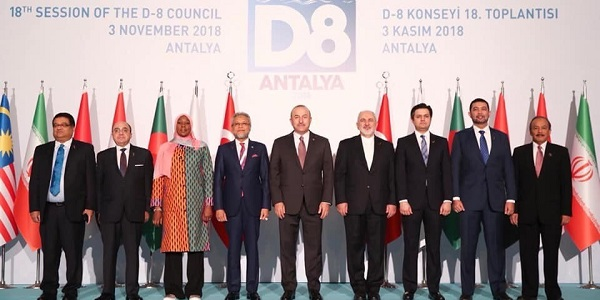 Foreign Minister Mevlüt Çavuşoğlu hosted the 18th Session of the Council of the Organization of Developing Countries (D-8), 3 November 2018