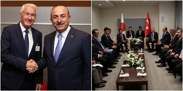 Foreign Minister Mevlüt Çavuşoğlu is visiting the US to attend the 73rd Session of the UN General Assembly, 24 September 2018