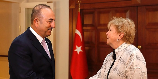 Foreign Minister Mevlüt Çavuşoğlu met with Ms. Jane Holl Lute, the official assigned by the UN Secretary-General, 30 July 2018