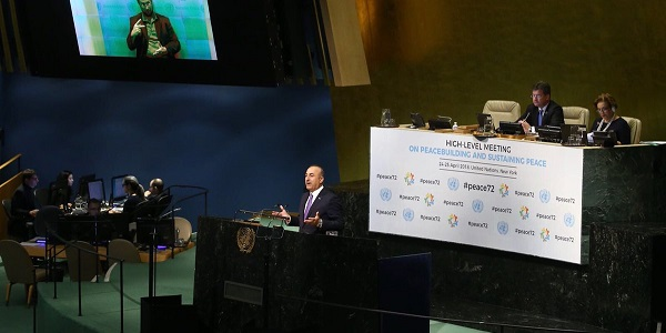 Foreign Minister Mevlüt Çavuşoğlu visited New York to attend the High-Level Meeting of the United Nations General Assembly, 21-24 April 2018