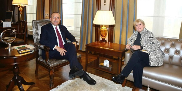Foreign Minister Mevlüt Çavuşoğlu met with Ms. Jane Holl Lute, the official assigned by the UN Secretary-General, 13 December 2018