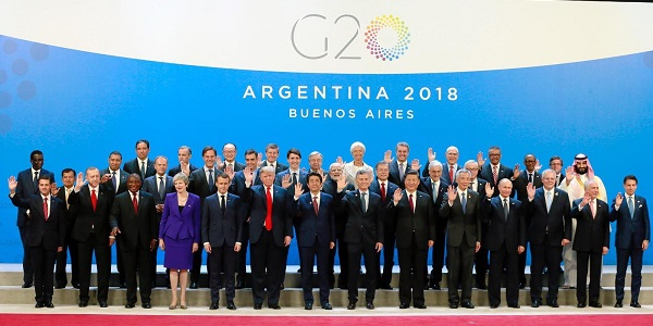 Foreign Minister Mevlüt Çavuşoğlu accompanied President Erdoğan during his visit to Argentina to attend the G20 Leaders' Summit, 29 November-1 December 2018