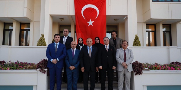 Foreign Minister Mevlüt Çavuşoğlu met with  Turkmen Deputies elected to the Iraqi Parliament, 19 September 2018