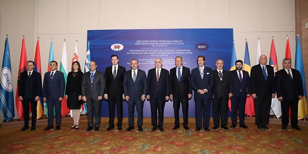 Foreign Minister Mevlüt Çavuşoğlu visited Azerbaijan to attend the 39th Meeting of the Council of Ministers of Foreign Affairs of BSEC, 14 December 2018