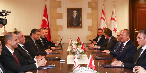Foreign Minister Mevlüt Çavuşoğlu visited Turkish Republic of Northern Cyprus, 23-24 July 2018