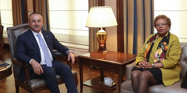 Foreign Minister Mevlüt Çavuşoğlu met with Maria Do Carmo Silveira, Executive Secretary of the Community of Portuguese Speaking Countries, 19 April 2018