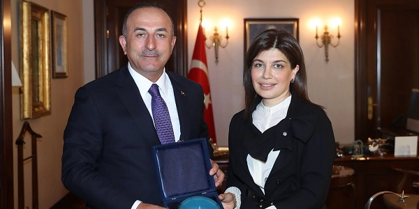 Foreign Minister Mevlüt Çavuşoğlu met with Günay Efendiyeva, the President of the Turkic Culture and Heritage Foundation, 16 April 2018