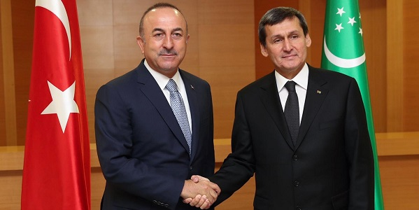 Foreign Minister Mevlüt Çavuşoğlu visited Turkmenistan, 8-9 November 2018