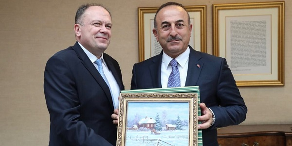 Foreign Minister Mevlüt Çavuşoğlu met with Chairman of the Belarusian Parliament's Standing Commission on International Affairs, 11 April 2018