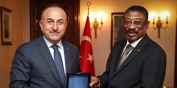 Foreign Minister Mevlüt Çavuşoğlu met with Ambassador of Burkina Faso in Ankara, 19 March 2018