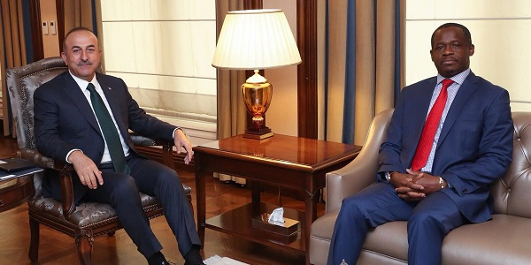 Foreign Minister Mevlüt Çavuşoğlu met with Ambassador of Gabon in Ankara, 7 May 2018