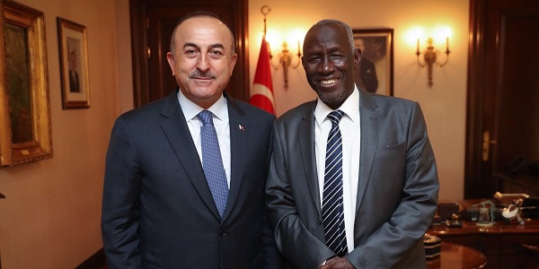 Foreign Minister Mevlüt Çavuşoğlu met with Ambassador of Gambia in Ankara, 9 May 2018