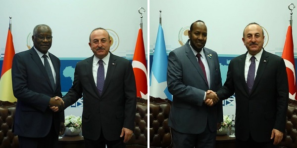 Foreign Minister Mevlüt Çavuşoğlu met with Foreign Minister of Guinea and State Minister in the Ministry of Foreign Affairs of Somalia, 11 February 2018
