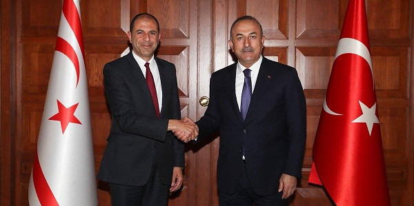 Foreign Minister Mevlüt Çavuşoğlu met with Deputy Prime Minister and Minister of Foreign Affairs of Turkish Republic of Northern Cyprus, 20 March 2018