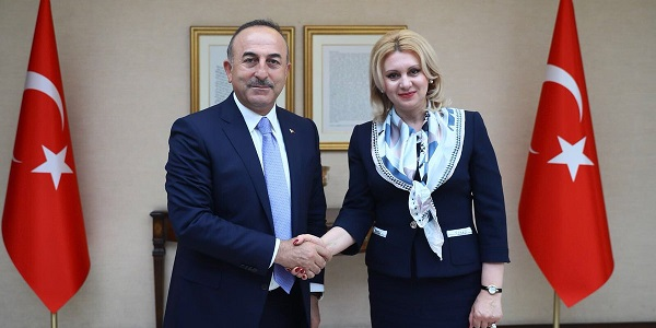 Foreign Minister Mevlüt Çavuşoğlu met with Chair of Moldova's Parliamentary Committee on Foreign Policy, 12 April 2018