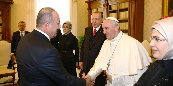 Foreign Minister Mevlüt Çavuşoğlu accompanied President Erdoğan during his visit to Vatican and Italy, 4-5 February 2018
