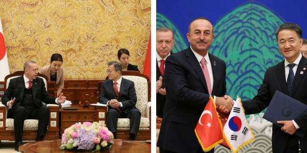 Foreign Minister Mevlüt Çavuşoğlu accompanied President Erdoğan during his visit to Republic of Korea, 2-3 May 2018