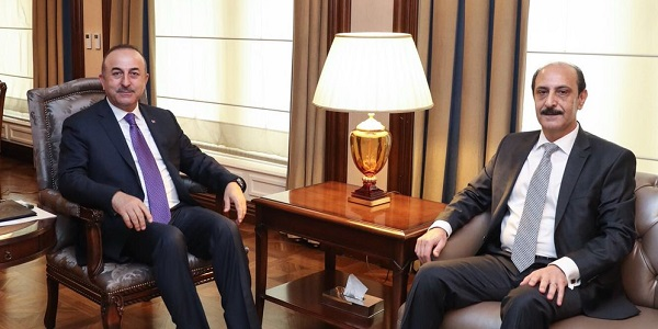 Foreign Minister Mevlüt Çavuşoğlu met with Ambassador of Jordan in Ankara, 2 April 2018