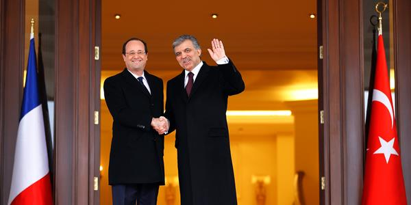 President Hollande of France pays a state visit to Turkey