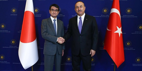 The visit of Foreign Minister Taro Kono of Japan to Turkey, 28 December 2017