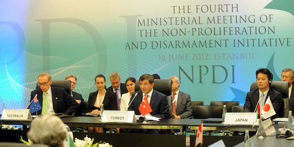 Foreign Ministers of  Nuclear Non-proliferation and Disarmament Initiative met in İstanbul.