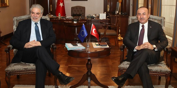 Meeting of Foreign Minister Mevlüt Çavuşoğlu with Christos Stylianides, European Commissioner for Humanitarian Aid and Crisis Management, 7 January 2019