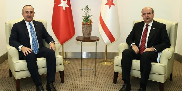 Meeting of Foreign Minister Mevlüt Çavuşoğlu with President Ersin Tatar of the Turkish Republic of Northern Cyprus, 27 October 2020