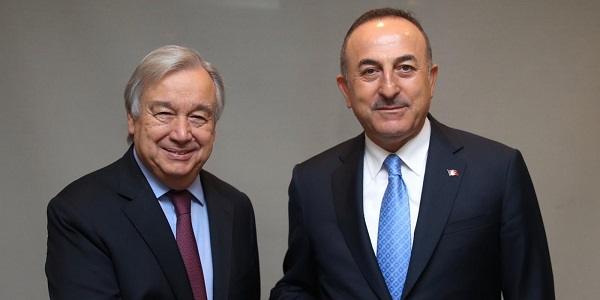 Meeting of Foreign Minister Mevlüt Çavuşoğlu with United Nations Secretary General Antonio Guterres, 30 October 2019