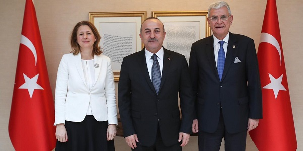 The meeting of Foreign Minister Mevlüt Çavuşoğlu with Dzhema Grozdanova, Chairperson of the Committee on Foreign Affairs of the Bulgarian National Assembly, 30 January 2019