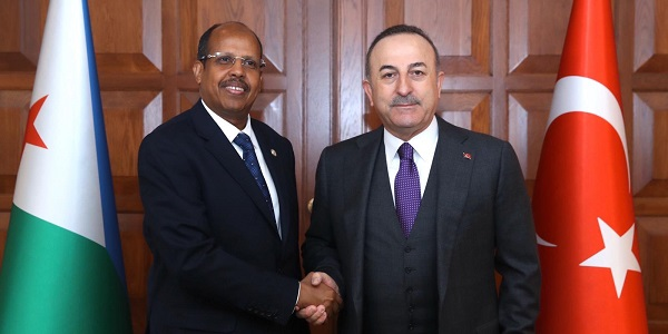 Meeting of Foreign Minister Mevlüt Çavuşoğlu with Foreign Minister Mahmoud Ali Youssouf of Djibouti, 19 February 2020