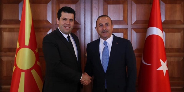 Meeting of Foreign Minister Mevlüt Çavuşoğlu with Dr. Elvin Hasan, State Minister responsible for Foreign Investments of North Macedonia, 10  April 2019‬