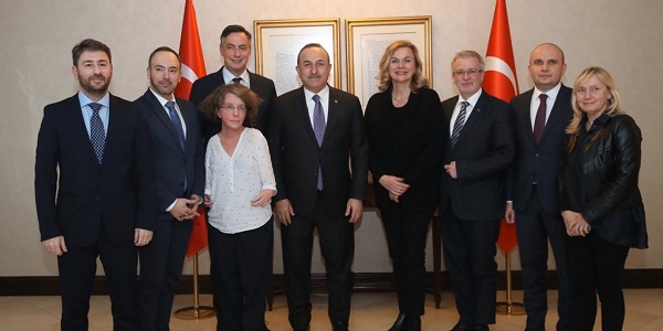 Meeting of Foreign Minister Mevlüt Çavuşoğlu with the delegation of the Committee on Foreign Affairs of the European Parliament, 24 February 2020