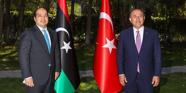 Meeting of Foreign Minister Mevlüt Çavuşoğlu with Vice-President of the Presidential Council of the Government of National Accord Ahmed Maiteeq of Libya, 15 September 2020
