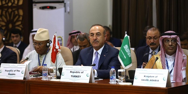 Participation of Foreign Minister Mevlüt Çavuşoğlu in the Open-Ended Extraordinary Meeting of the Organization of Islamic Cooperation Executive Committee, Saudi Arabia, 17 July 2019
