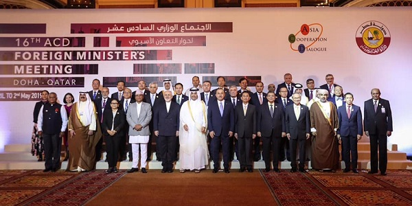 Visit of Foreign Minister Mevlüt Çavuşoğlu to Qatar to attend the 16th Foreign Ministers Meeting of the Asian Cooperation Dialogue, 1 May 2019