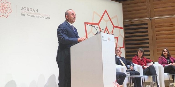 "Visit of Foreign Minister Mevlüt Çavuşoğlu to the United Kingdom to attend the ""Conference on Jordan's Growth and Opportunity: London Initiative 2019"", 28 February 2019"
