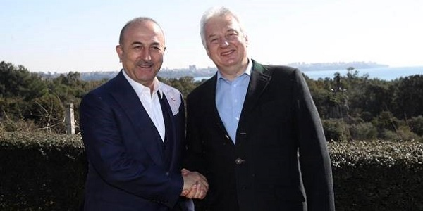 The meeting of Foreign Minister Mevlüt Çavuşoğlu with Deputy Prime Minister Zsolt Semjen of Hungary, 18 February 2019