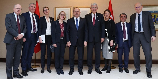 The meeting of Foreign Minister Mevlüt Çavuşoğlu with Anniken Huitfeldt, Chair of the Comission on Foreign Affairs and Defence of the Norwegian Parliament, 24 January 2019