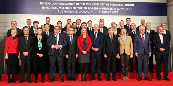 The visit of Foreign Minister Mevlüt Çavuşoğlu to Romania to attend the informal meeting of Foreign Ministers of the EU member and candidate countries, 31 January-1 February 2019