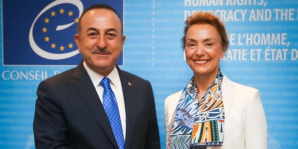 Visit of Foreign Minister Mevlüt Çavuşoğlu to Strasbourg to attend the celebrations of the 70th anniversary of the Council of Europe, 1 October 2019
