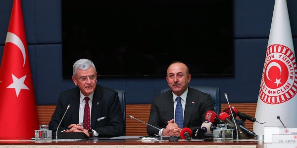 Foreign Minister Mevlüt Çavuşoğlu in the meeting of GNAT's Committee on Foreign Affairs, 9 January 2019