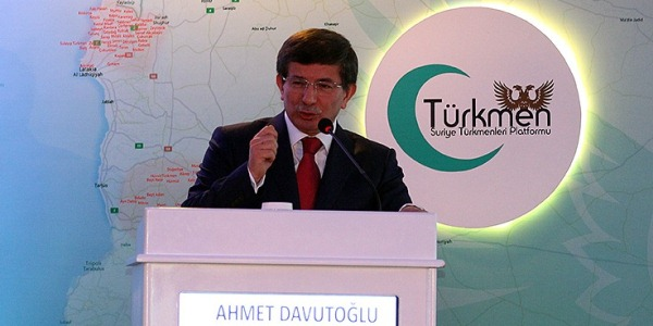 "Foreign Minister Davutoğlu ""Turkey will continue to support the Syrian Turkmen""."