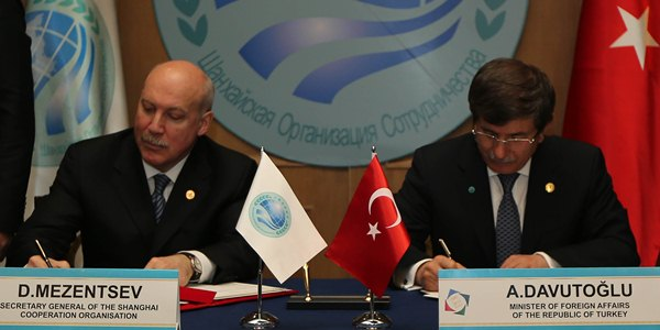 Turkey and The Shanghai Cooperation Organization Dialogue Partnership Memorandum was signed in Almaty.