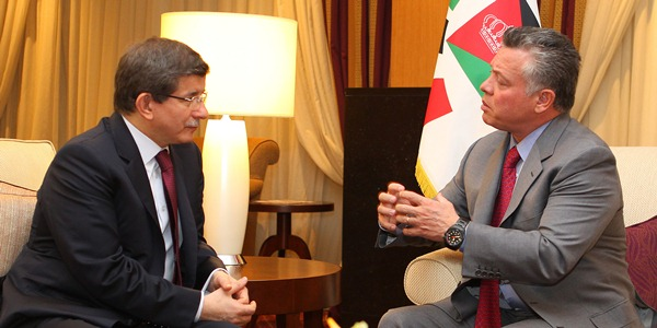 Foreign Minister Davutoğlu was received by King Abdullah II of Jordan.